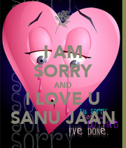 Sorry Jaan Love Wallpaper : I AM SORRY AND I LOVE U SANU JAAN - KEEP cALM AND cARRY ON Image Generator
