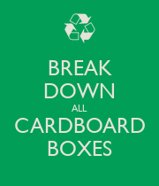 how to break down shoe boxes