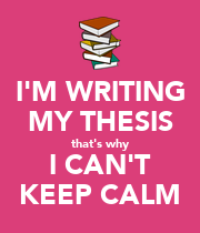 Writing my thesis