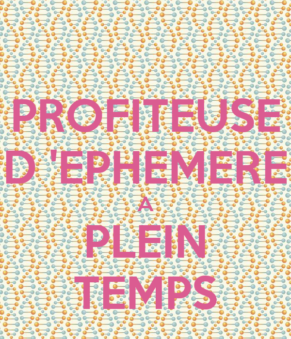 Profiteuse d 39 ephemere a plein temps poster marion for Architecture ephemere