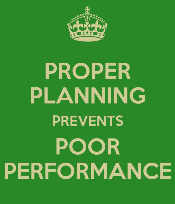 proper plan