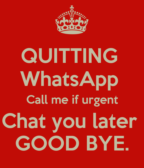 chat later