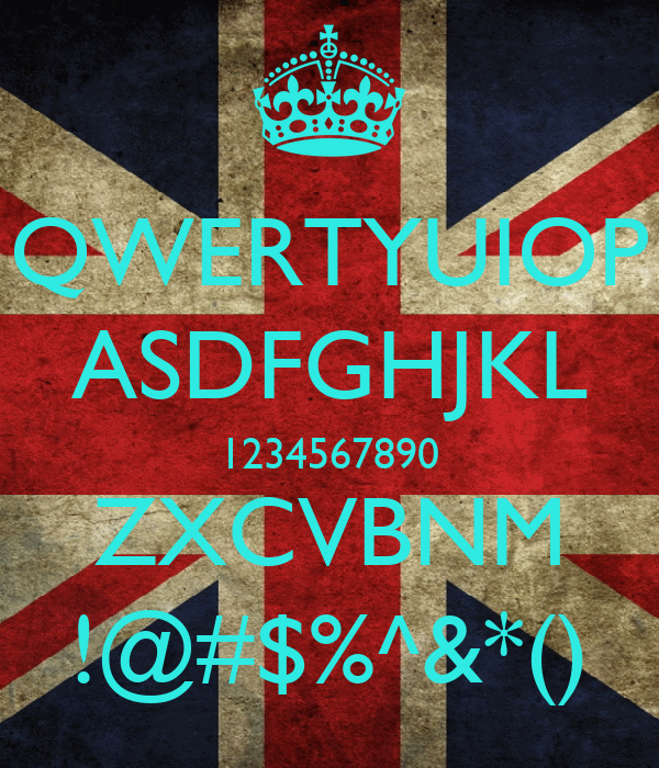 qwertyuiop asdfghjkl 1234567890