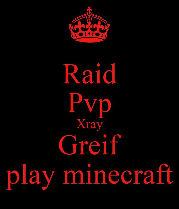 Raid Pvp Xray Greif play minecraft Poster | lukelongs22