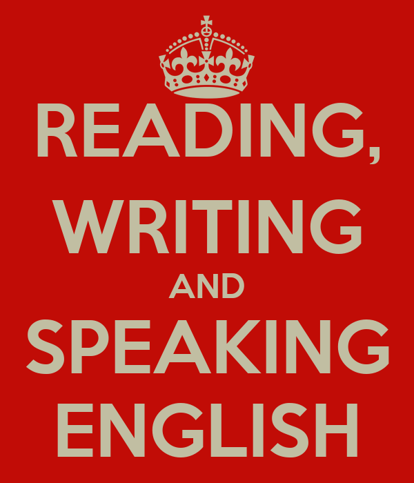 english reading writing and speaking
