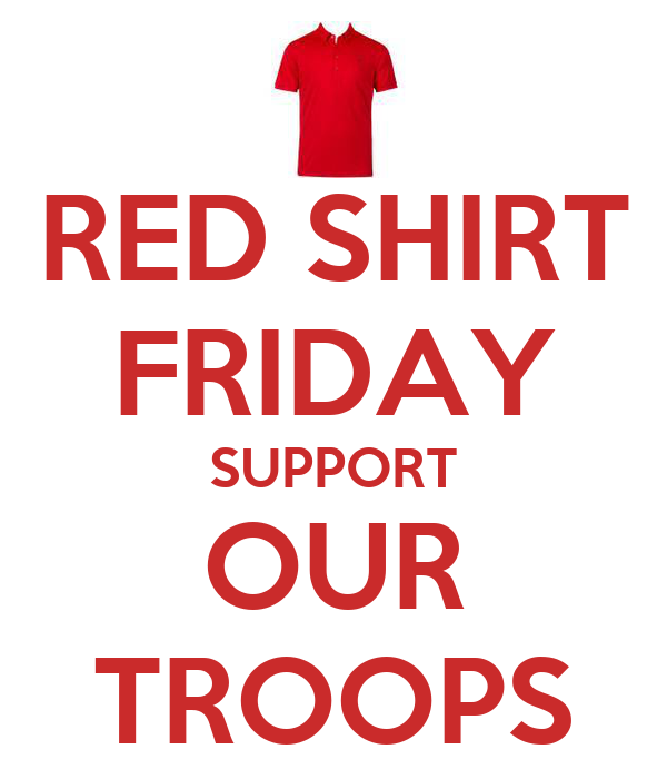 Red shirt friday support our troops poster soulma keep for Red support our troops shirts