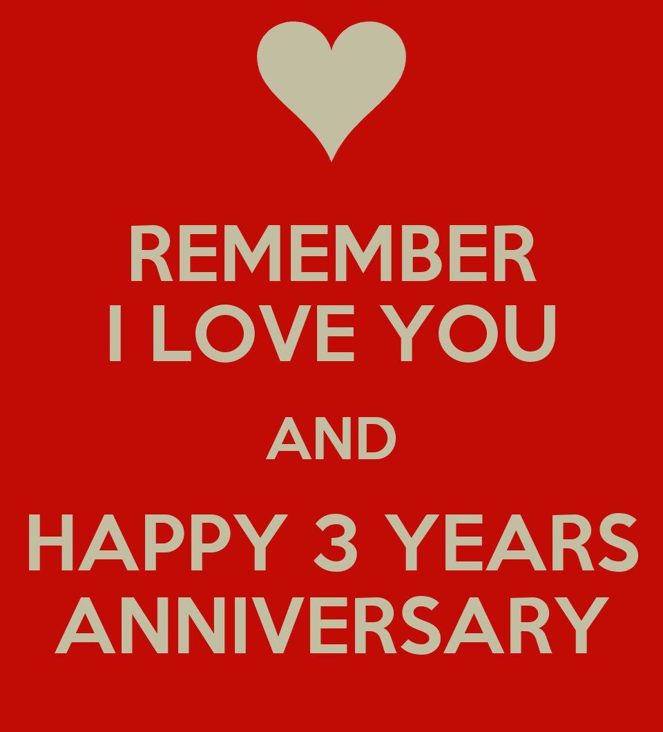 Remember i love you and happy years anniversary keep