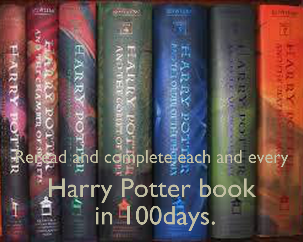 Harry Potter Book Cover Generator : Reread and complete each every harry potter book in