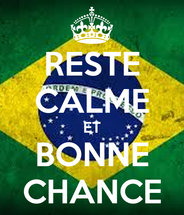 RESTE CALME ET BONNE CHANCE - KEEP CALM AND CARRY ON Image Generator