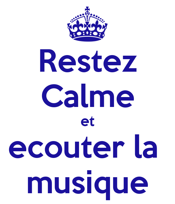 restez calme et ecouter la musique poster morgan keep calm o matic. Black Bedroom Furniture Sets. Home Design Ideas