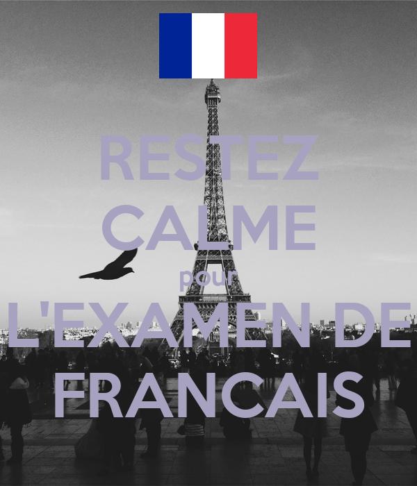 Resultado de imagen de EXAMEN FRANÇAIS
