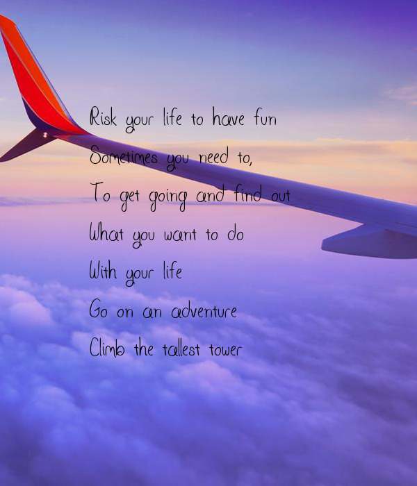 Risk Your Life To Have Fun Sometimes You Need To To Get Going And