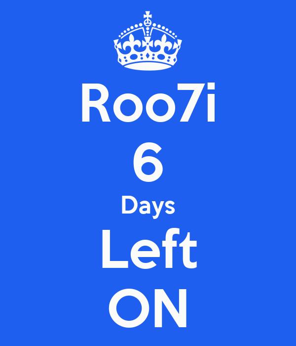 6 Days Countdown