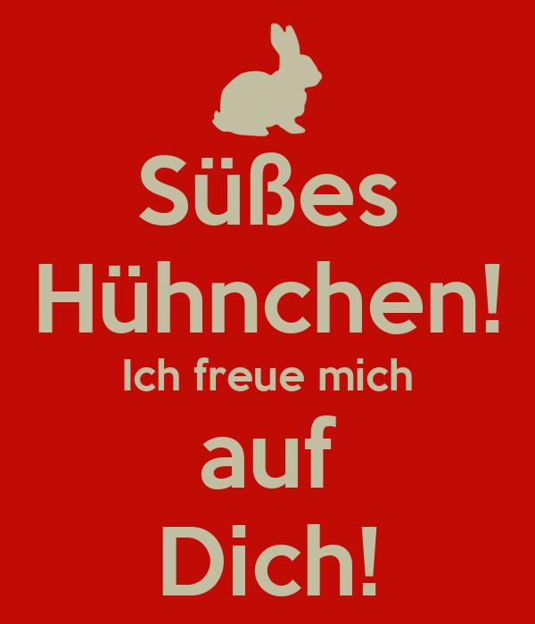 Süßes Hühnchen! Ich freue mich auf Dich! Poster | e | Keep