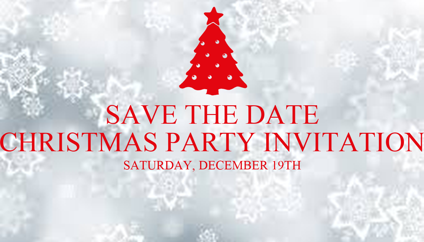 SAVE THE DATE CHRISTMAS PARTY INVITATION SATURDAY ...