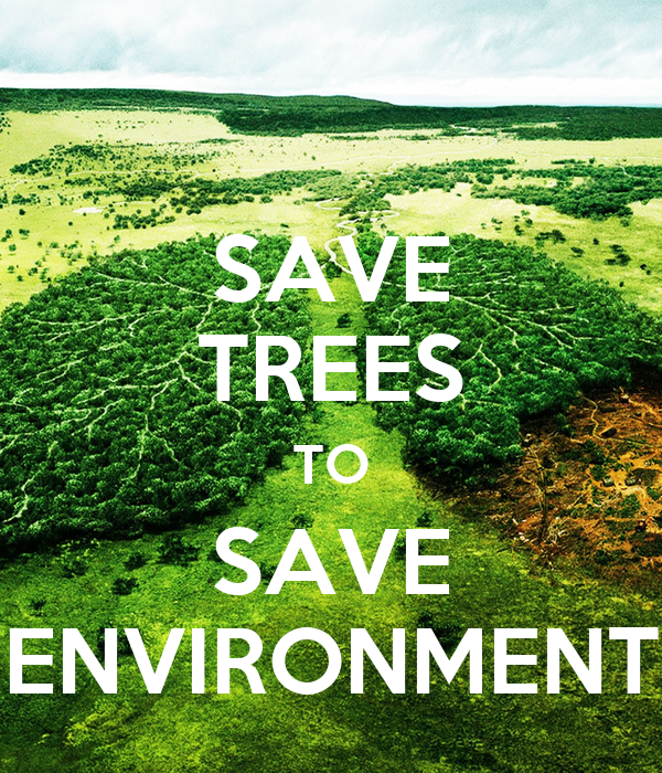 an essay on save trees save environment