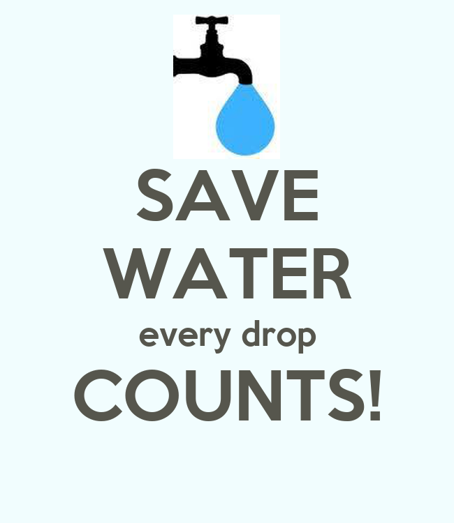 Save Water Every Drop Counts Poster Nadea Keep Calm O