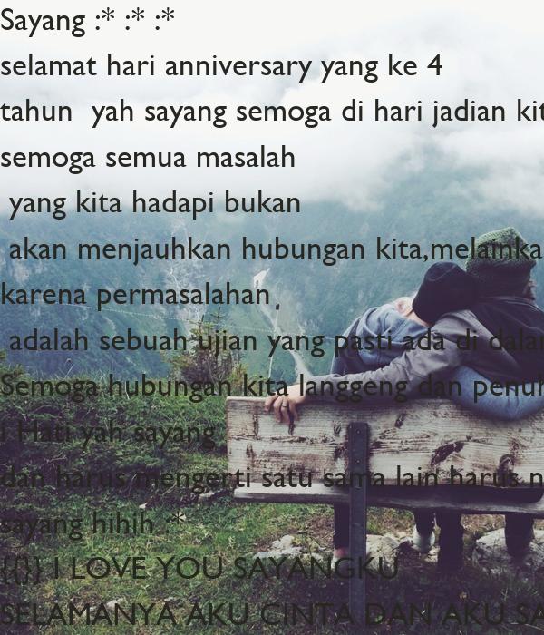 Sayang selamat hari anniversary yang ke tahun