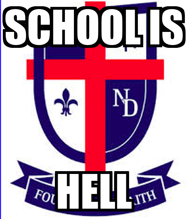 school is hell poster daniel keep calmomatic