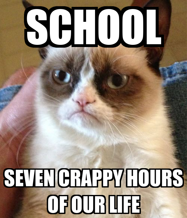SCHOOL SEVEN CRAPPY HOURS OF OUR LIFE Poster | BRENDAN ...