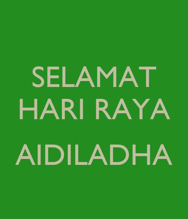 Selamat Hari Raya Aidiladha Poster Deb Keep Calm O Matic
