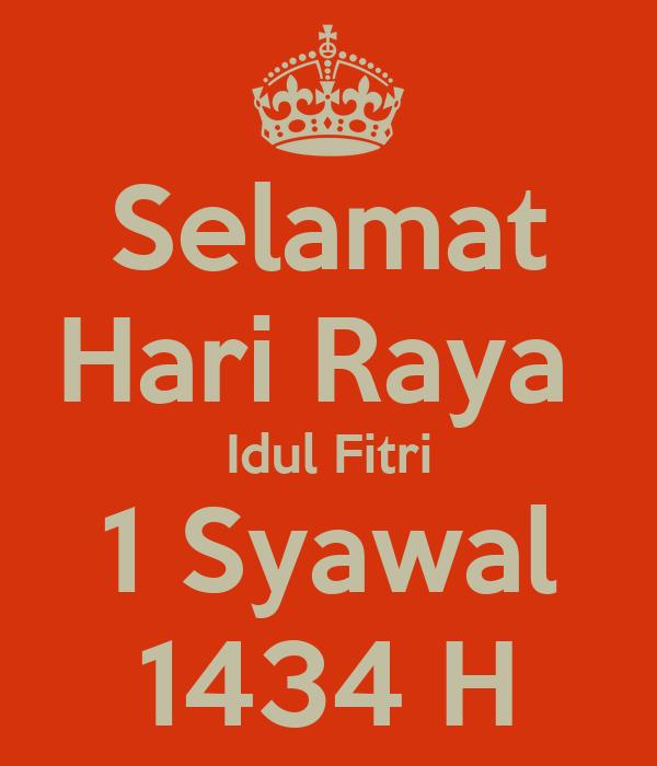Selamat Hari Raya Idul Fitri 1 Syawal 1434 H Poster