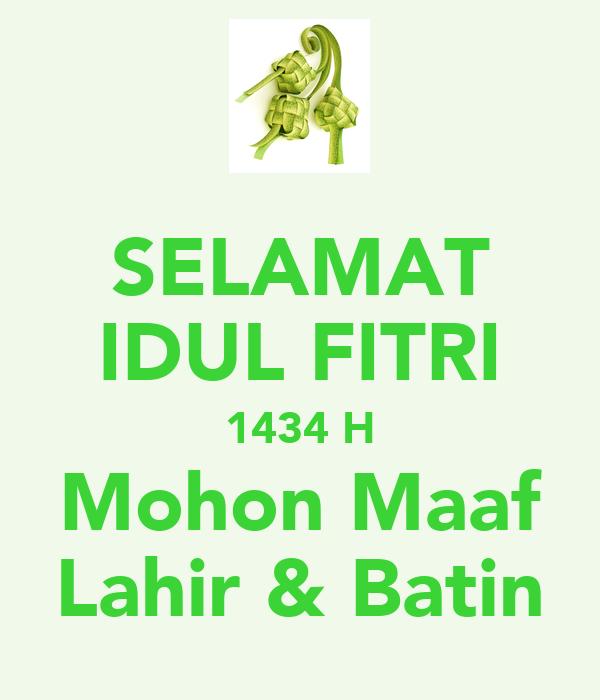 SELAMAT IDUL FITRI 1434 H Mohon Maaf Lahir & Batin Poster
