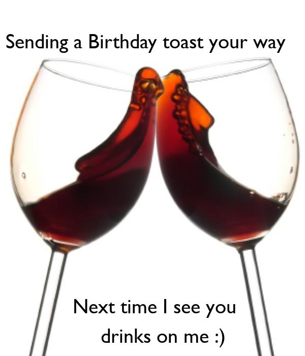 Birthday toast to wife