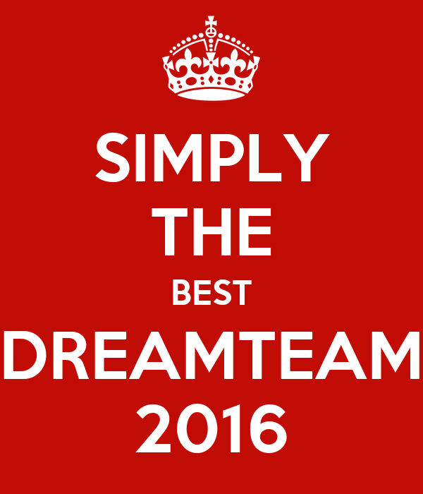 SIMPLY THE BEST DREAMTEAM 2016 Poster   kevin