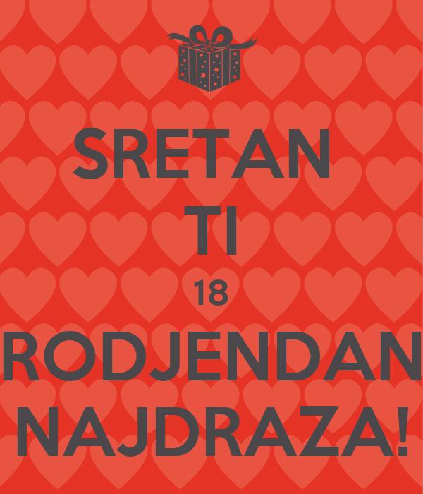 sretan ti 18 rođendan SRETAN TI 18 RODJENDAN NAJDRAZA! Poster | Ivana R | Keep Calm o Matic sretan ti 18 rođendan