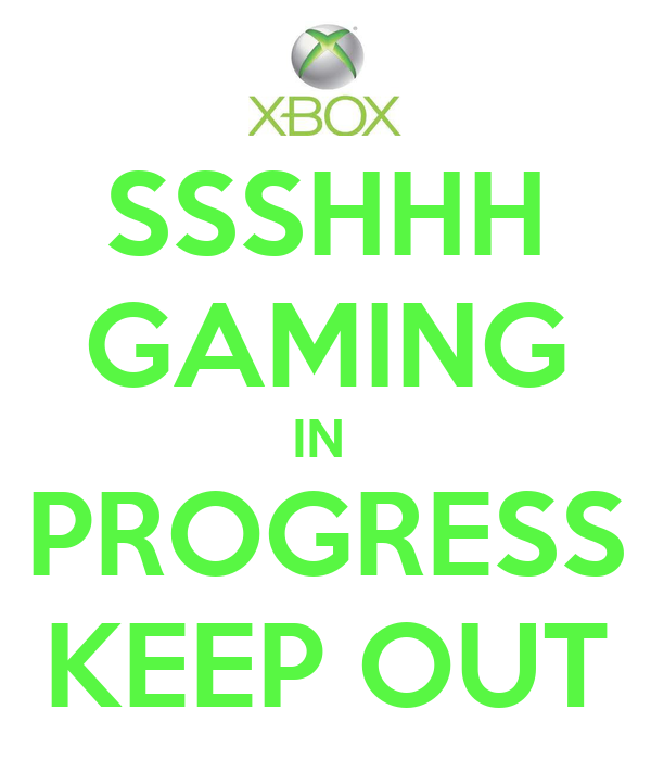 ssshhh gaming in progress keep out poster daniel keep calm o matic