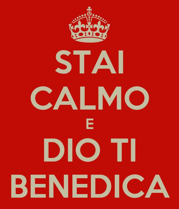 Stai Calmo E Dio Ti Benedica Poster Sperandiobrunela Keep Calm O