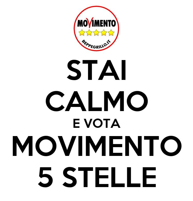 Stai calmo e vota movimento 5 stelle poster anna keep for Esponenti movimento 5 stelle