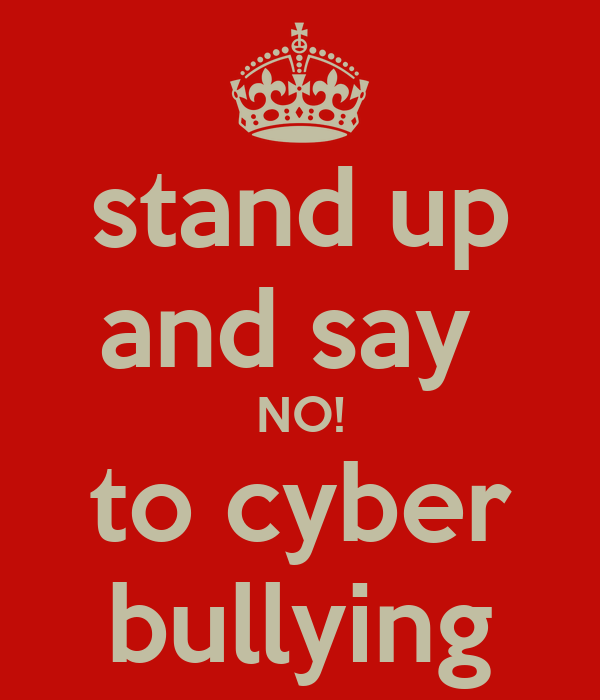 Cyberbullying Quotes: Stand Up And Say NO! To Cyber Bullying Poster