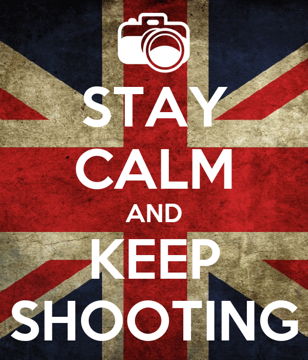 stay calm stay calm and keep shooting poster eric scott miller keep calm