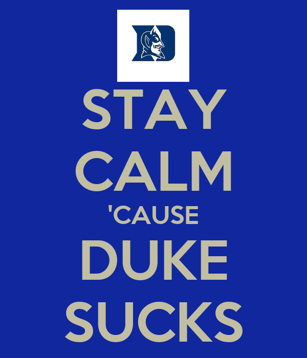 This is why duke suck