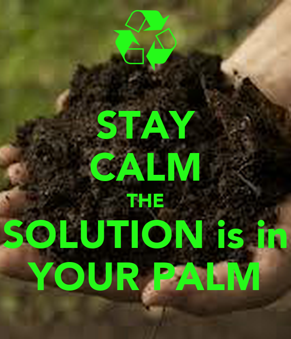 STAY CALM THE SOLUTION is in YOUR PALM