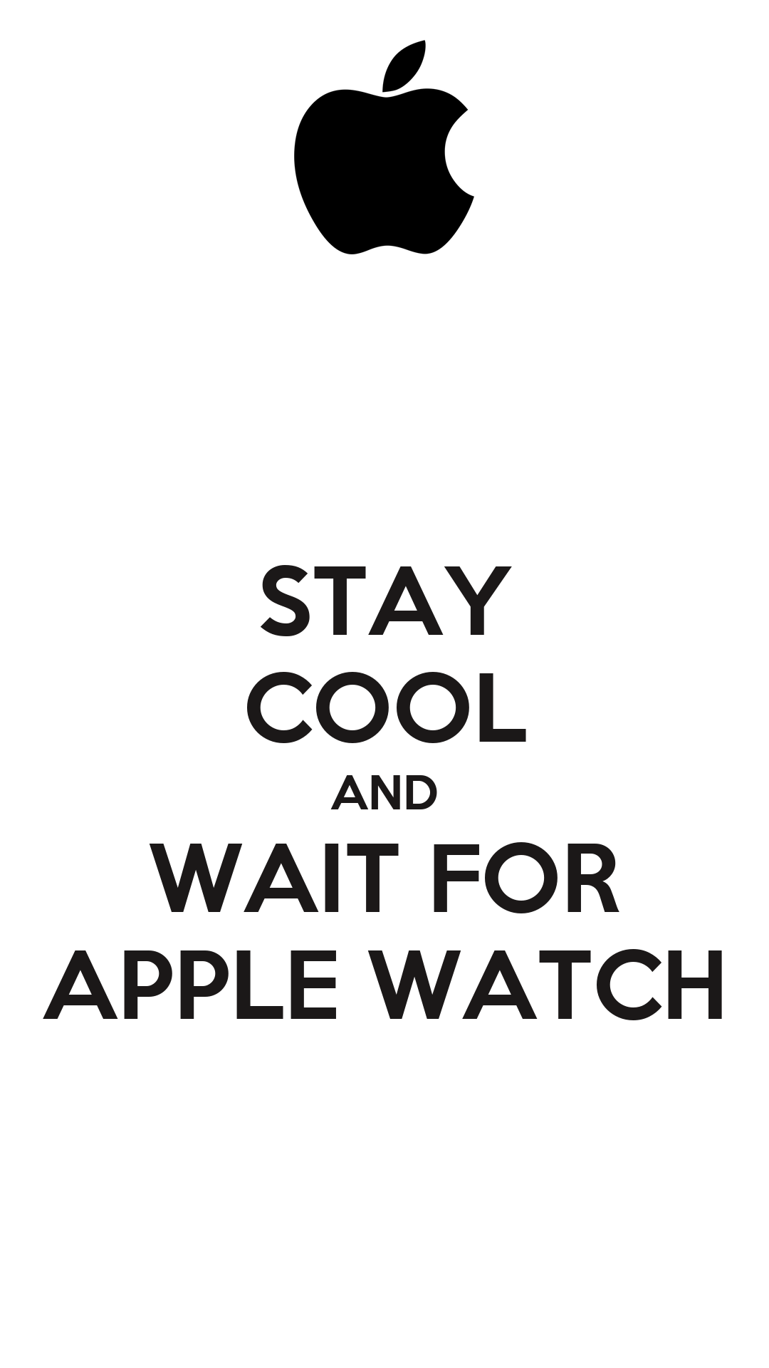 Apple Watch Poster And Wait For Apple Watch