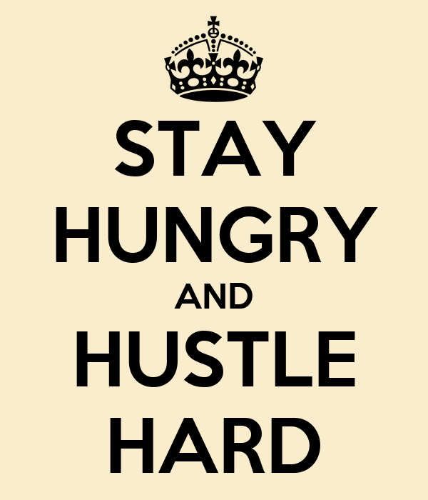STAY HUNGRY AND HUSTLE HARD Poster