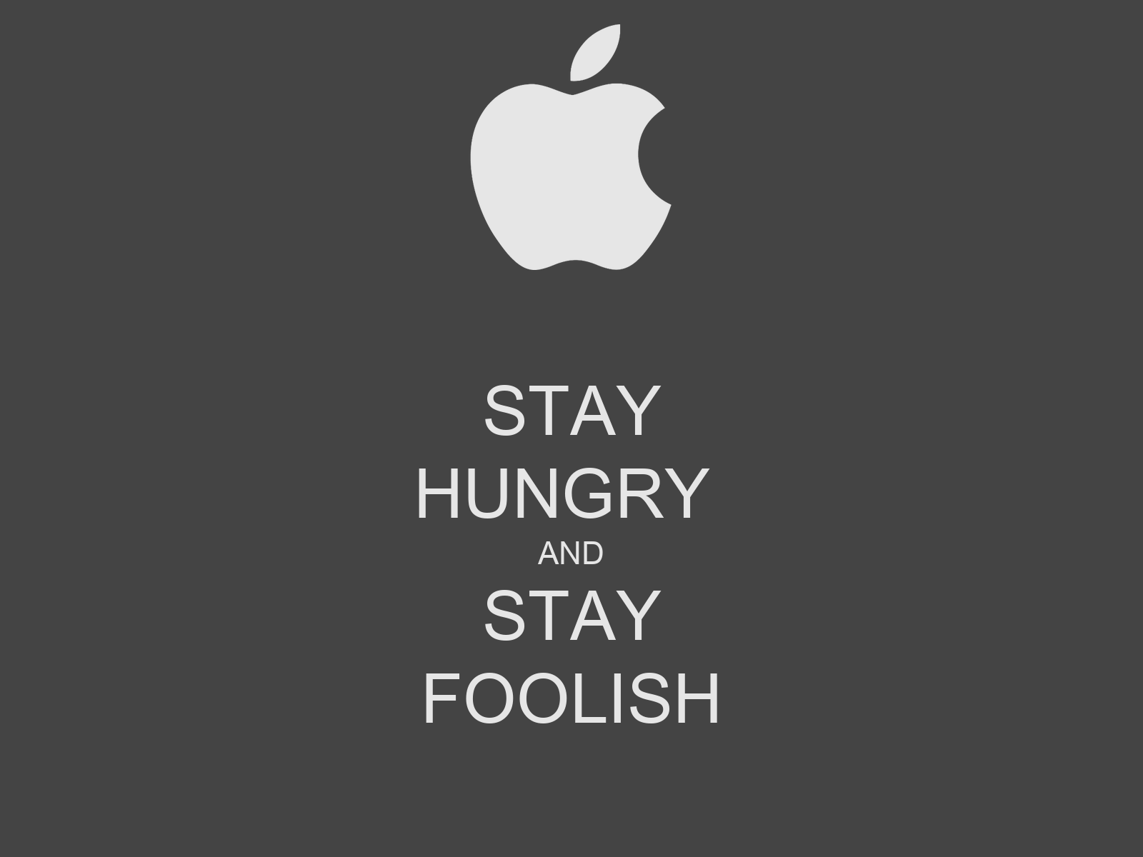 Stay Hungry Stay Foolish A Book Review