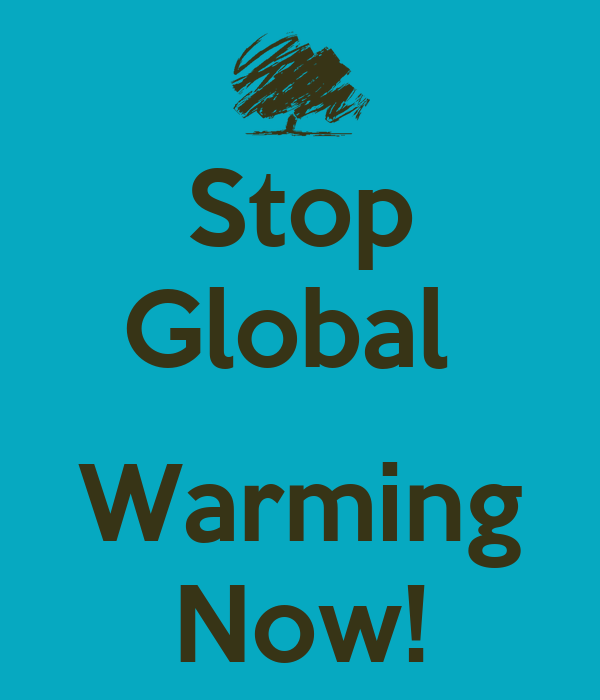 we must stop global warming now essay