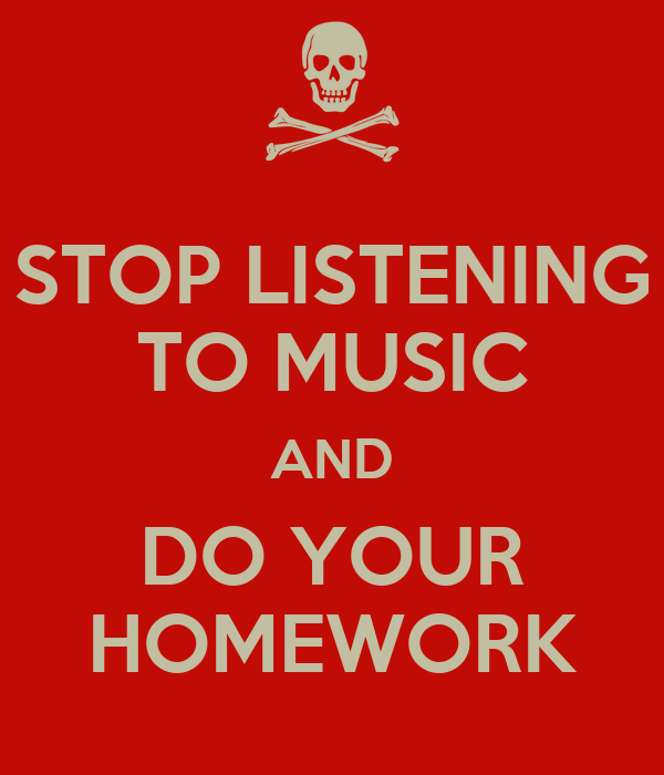 Does music help while doing homework