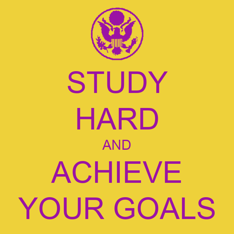 STUDY HARD AND ACHIEVE YOUR GOALS Poster | Avianosec ...