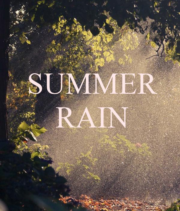 SUMMER RAIN Poster   doogle25