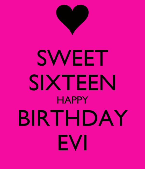Happy Birthday 16 Quotes: Happy Sweet Sixteen Quotes. QuotesGram