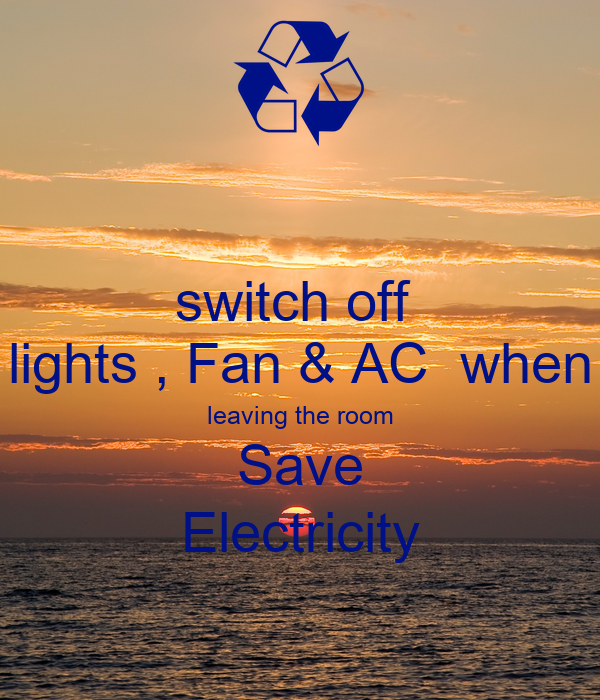 Switch Off Lights Ac When Leaving The Room