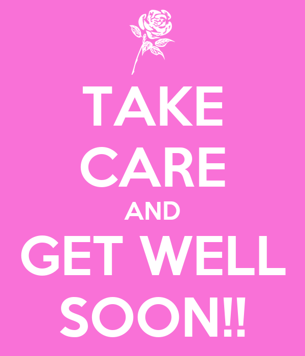 Take Care And Get Well Soon Poster Natalia Keep Calm