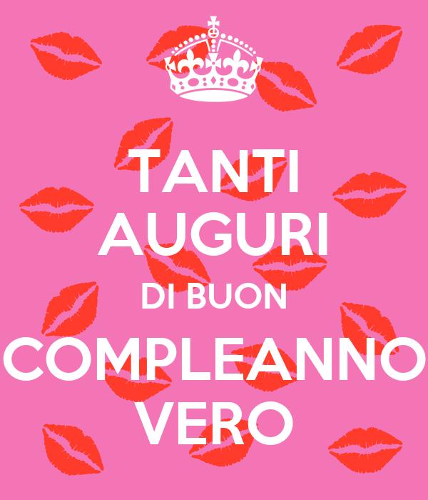 TANTI AUGURI DI BUON COMPLEANNO VERO Poster