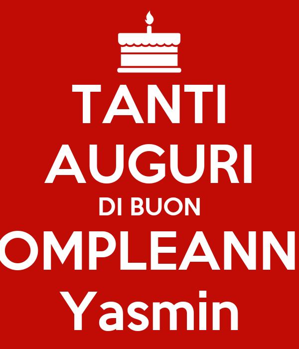 Tanti Auguri Di Buon Compleanno Yasmin Poster Walid Keep Calm O