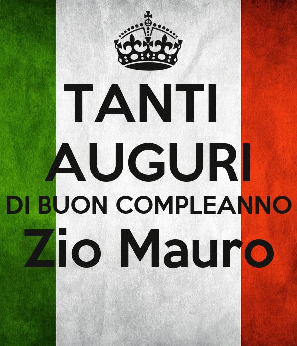 Tanti Auguri Di Buon Compleanno Zio Mauro Poster Maurizio Keep